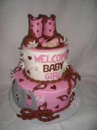 9 Cowgirl Baby Shower Cakes Photo - Western Baby Girl Cake ...