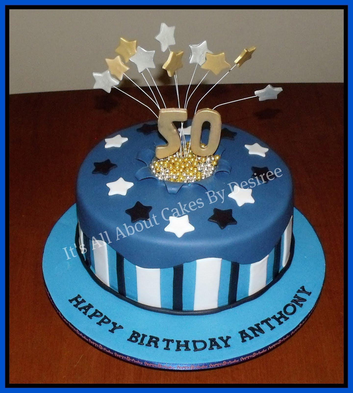 Mens Blue 50th Birthday Cake Bakeoftheweek Images Of 50th Birthday