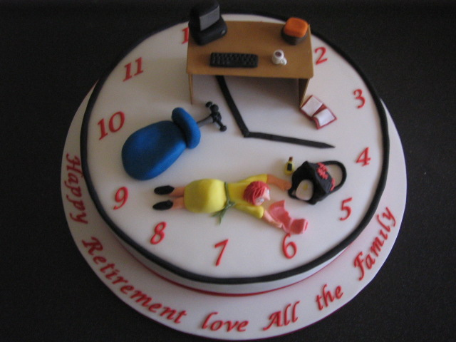 11 Office Retirement Cakes Woman Photo Office Retirement Cake Desk