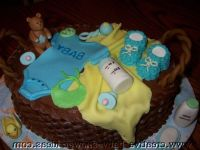 10 Dior Themed Baby Shower Cakes Photo - Shopping Bag Cake ...