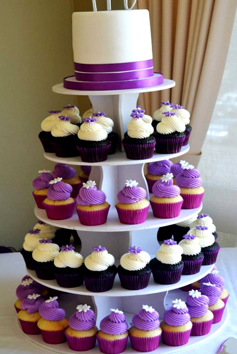 10 Purple And White Wedding Cakes And Cupcakes Photo Country