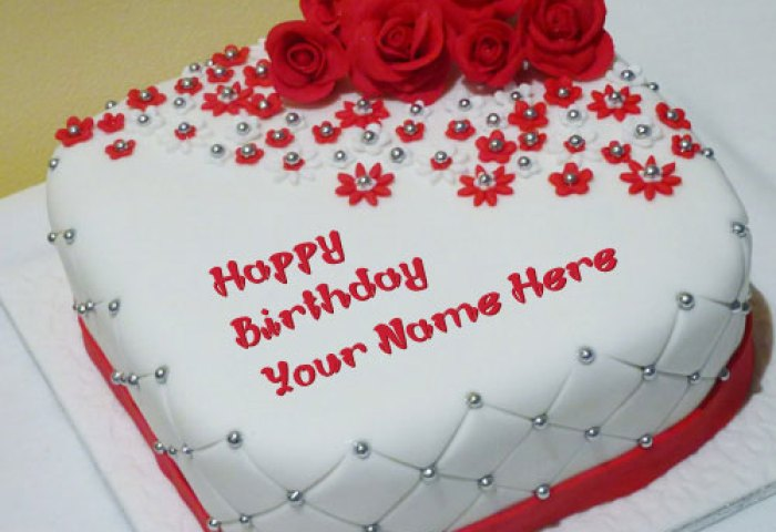 10 Beautiful Birthday Cakes With Names On Them Photo Happy