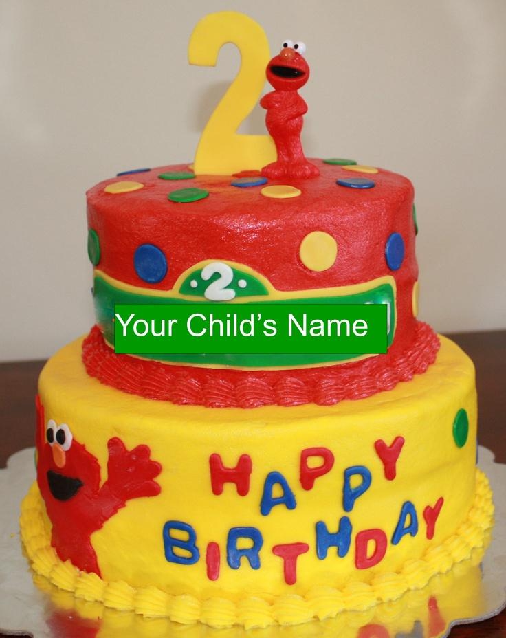 6 Two Tier Elmo Birthday Cakes For Boys Photo Elmo Birthday Cakes