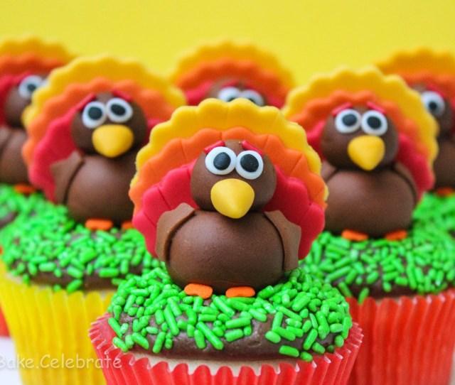 Fondant Turkey Cupcake Toppers