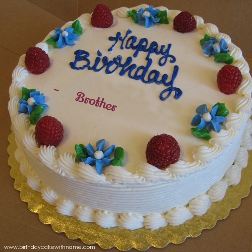 11 Brother Birthday Cakes With Name Photo Happy Birthday Cake With