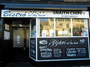 Bistro at the Back, 1 High Street, Snaith, DN14 9HF, Tel: 01405860351 www.snaithchippy.co.uk Click on the image to visit the website