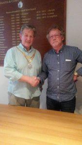 Retiring Mayor & New Town Mayor