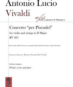 Vivaldi RV 205 score and parts