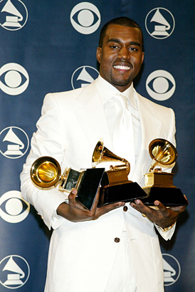 Kanye West at the 2004 Grammys