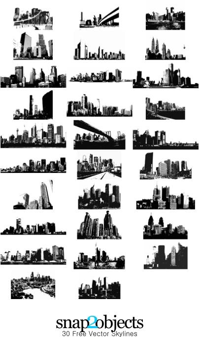 30 Free Vector Skylines