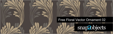 Free Floral Vector Ornament