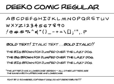 deeko comic regular