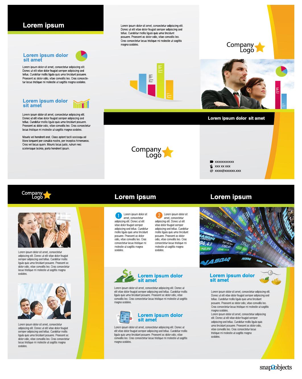 Free business vector brochure template in illustrator flashek Choice Image