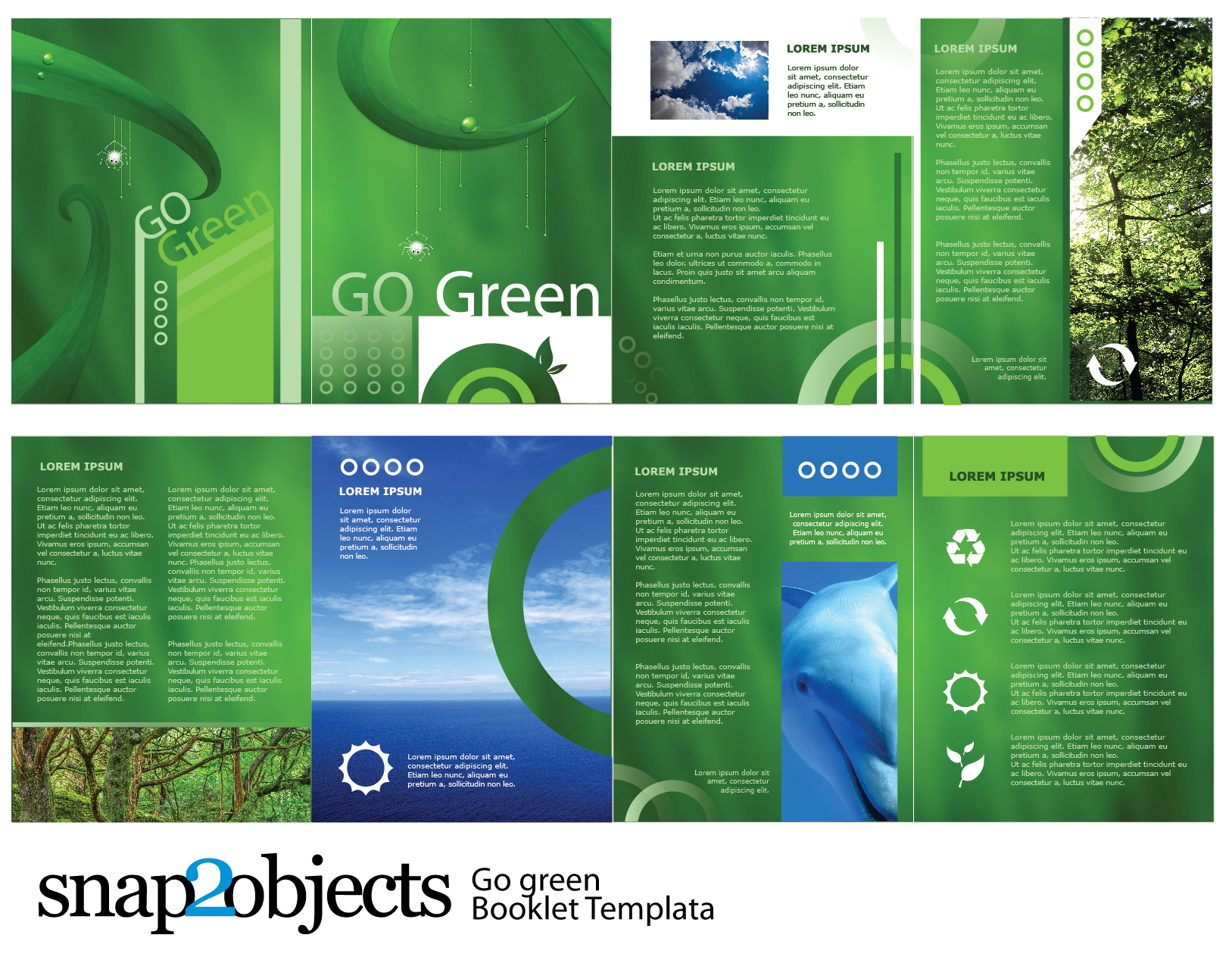 Free Go Green Vector Booklet Template -