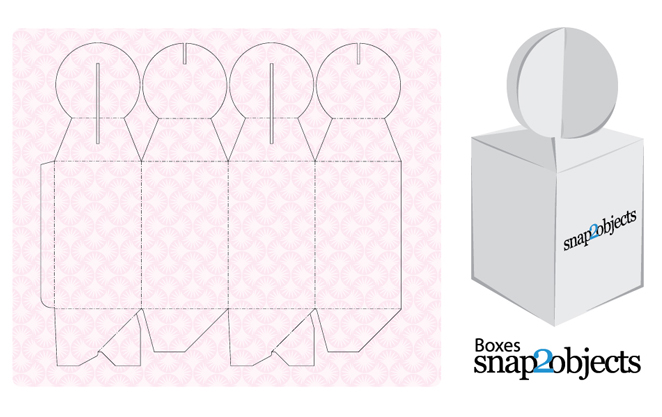 Free vector gift box template for Box templates vector
