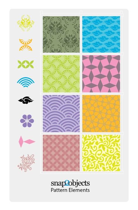 Free Vector Decorative Pattern Elements