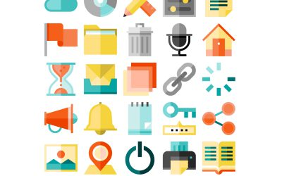 Cute Collection of 210 User Interface Icons