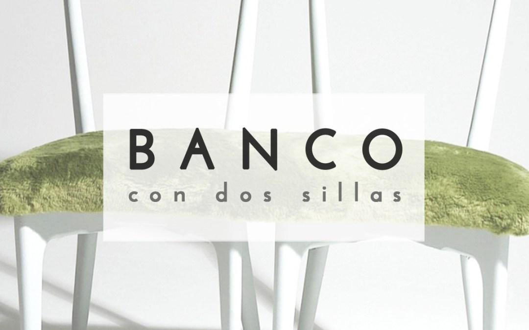 BANCO CON 2 SILLAS