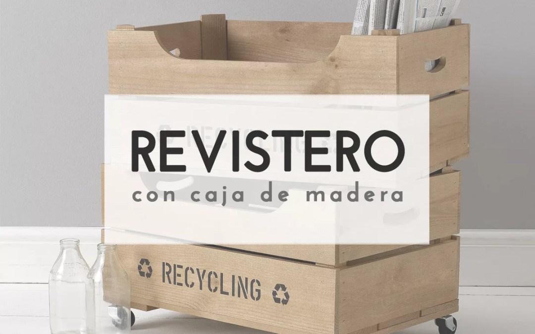 REVISTERO CON CAJAS DE MADERA