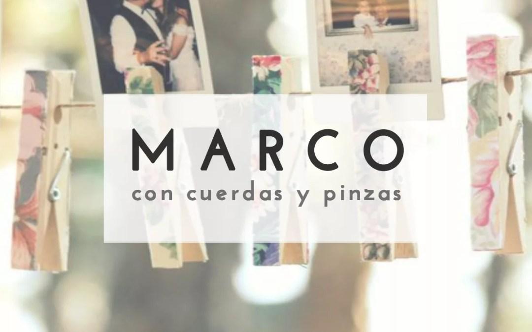 MARCO DE FOTOS CON CUERDA