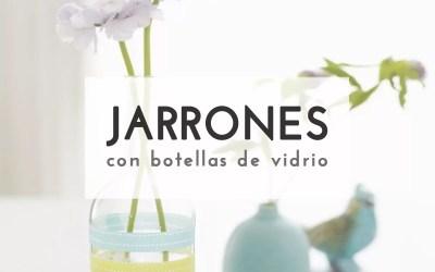 JARRONES CON BOTELLAS RECICLADAS