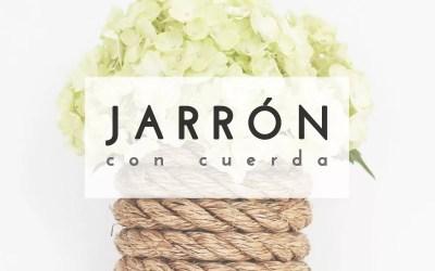 JARRÓN CON CUERDA