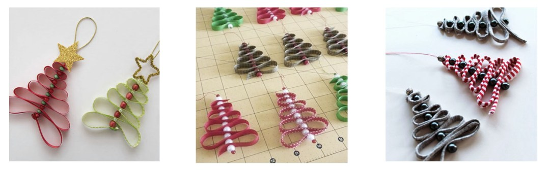 arbol de navidad con cintas DIY
