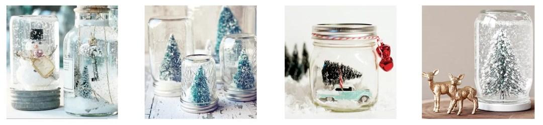 decorar con tarros en navidad