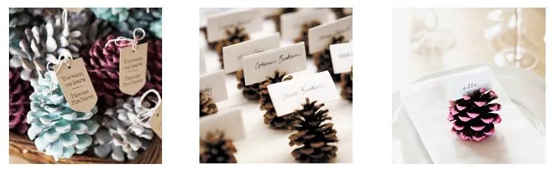 decorar con piñas en navidad