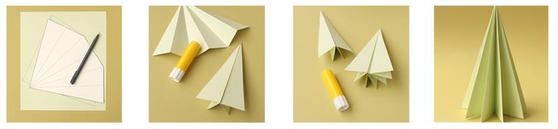 DIY árbol de navidad con papel
