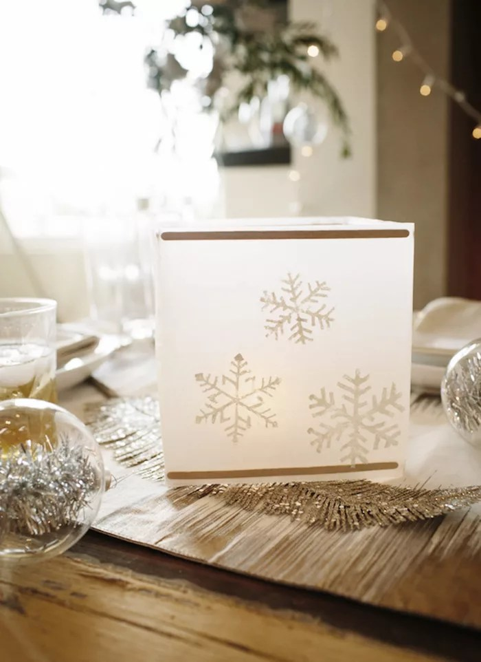 DIY lámpara navideña con papel