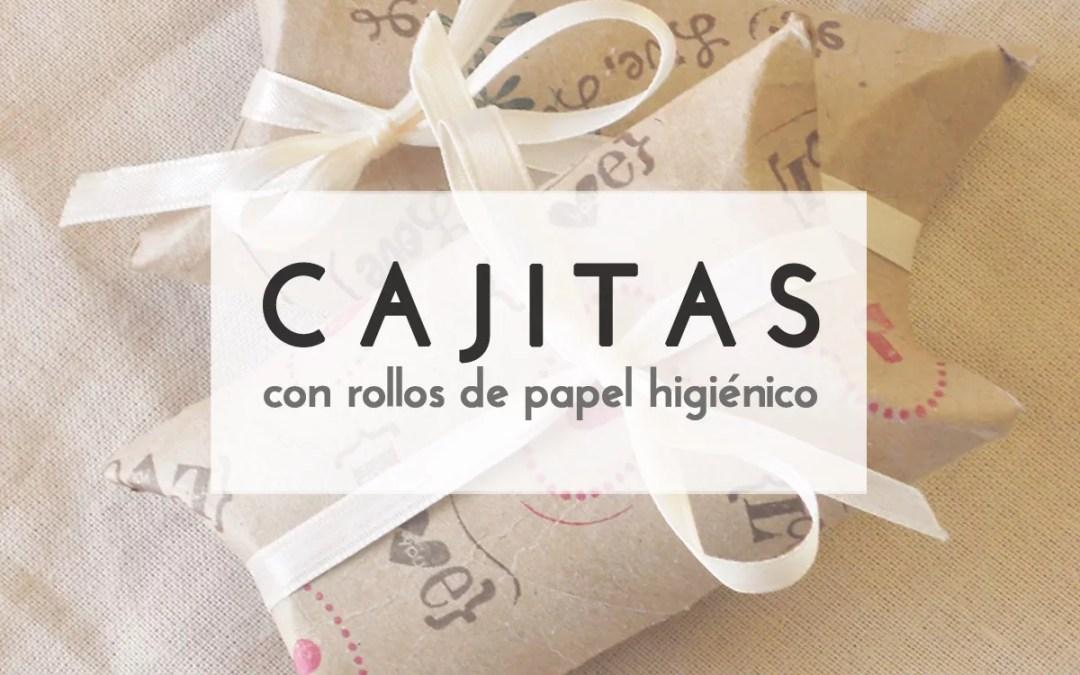 CAJITAS CON ROLLOS DE PAPEL HIGIÉNICO