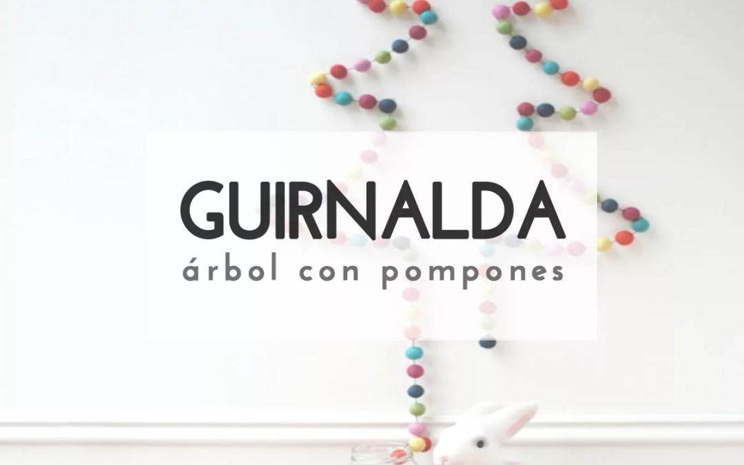 GUIRNALDA-ÁRBOL CON POMPONES