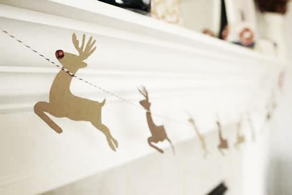 DIY guirnalda de navidad con renos