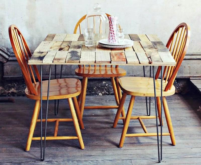 DIY mesa con tablones de palet