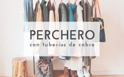 DIY PERCHERO CON TUBERÍA
