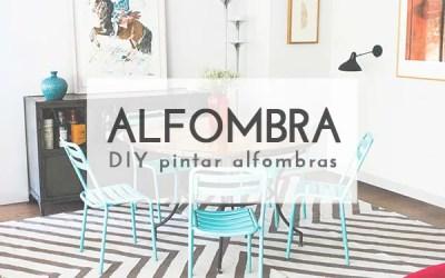 DIY CÓMO PINTAR UNA ALFOMBRA