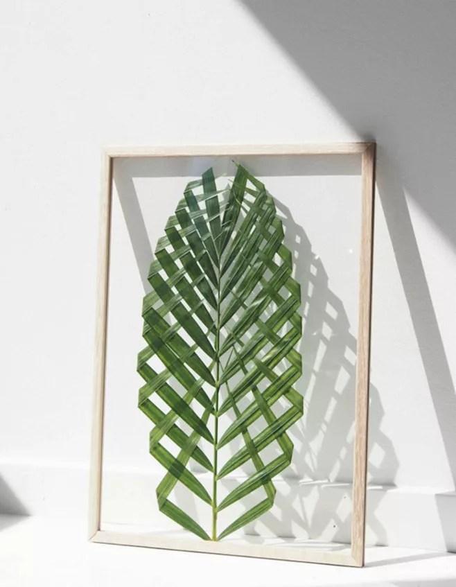 DIY decorar con hojas