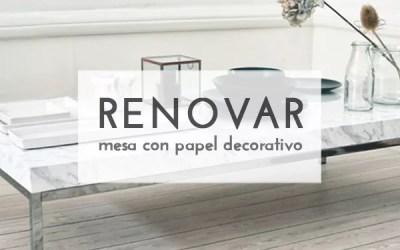 DIY MESITA CON VINILO