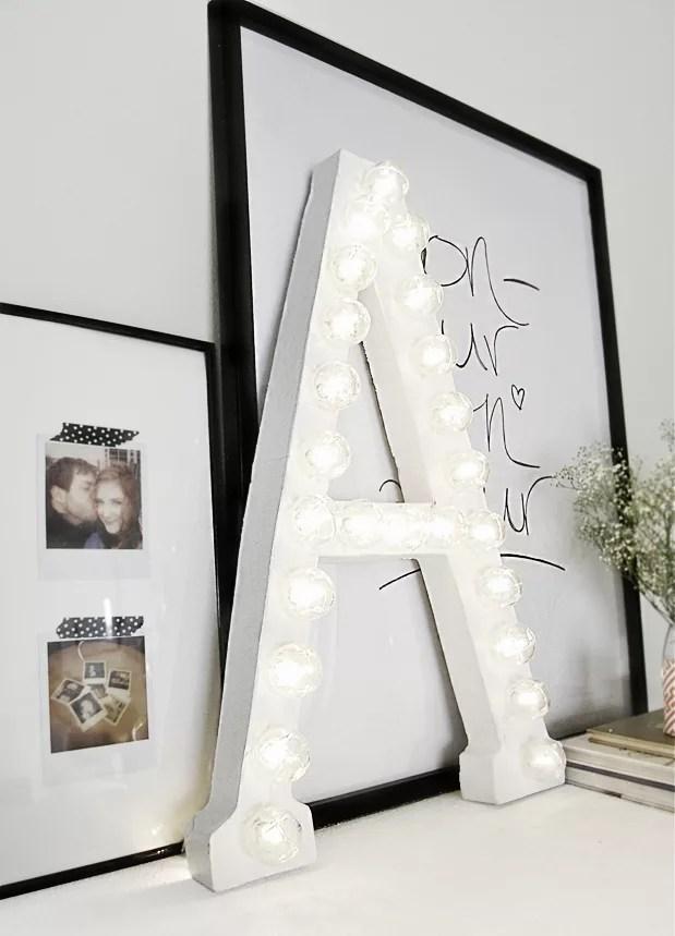 DIY letras iluminadas