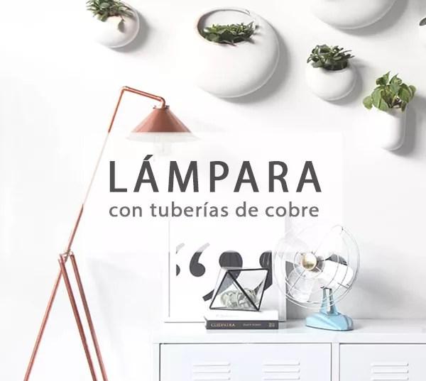 DIY LÁMPARA CON TUBOS DE COBRE