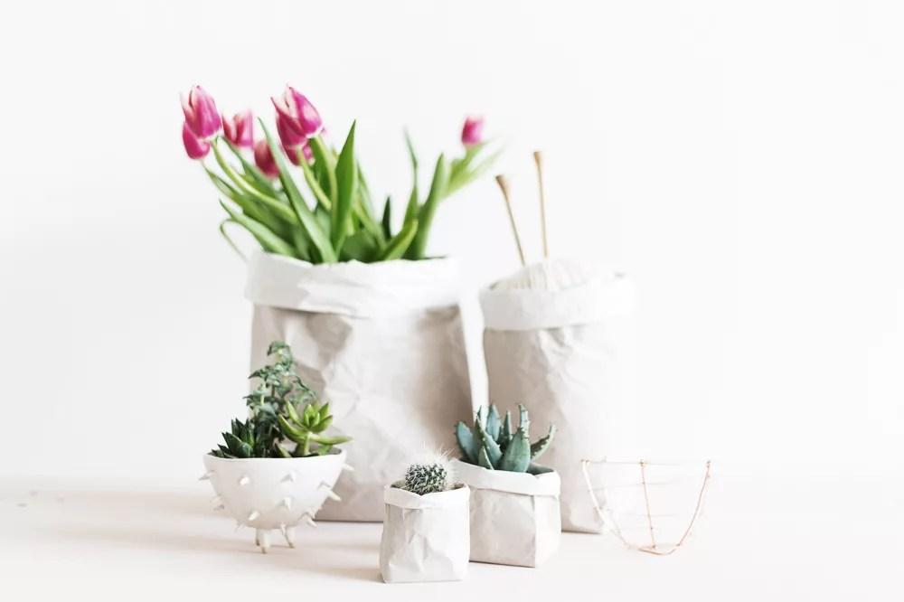 DIY cestas con papel Kraft