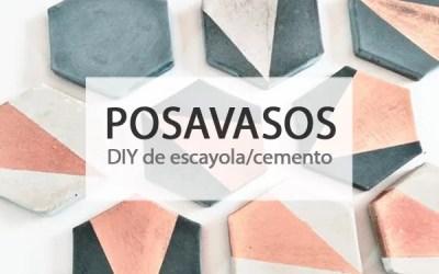 DIY POSAVASOS DE CEMENTO/ESCAYOLA