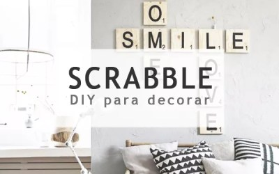 DIY DECORAR CON LETRAS SCRABBLE
