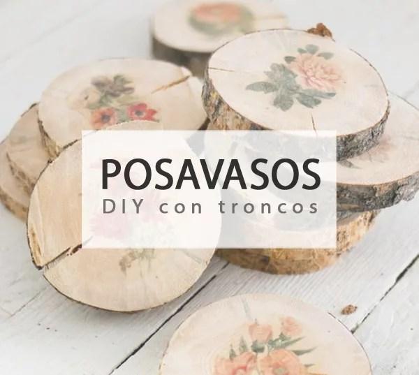 POSAVASOS DIY CON TRONCOS