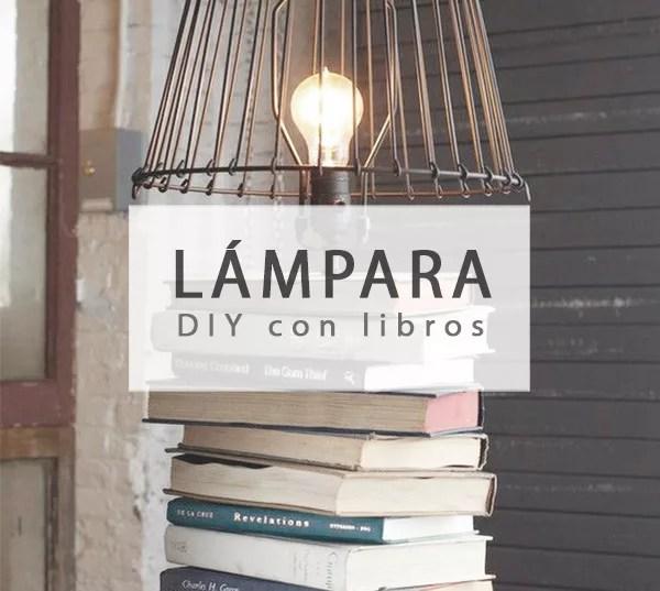 LÁMPARA DE MESA CON LIBROS DIY