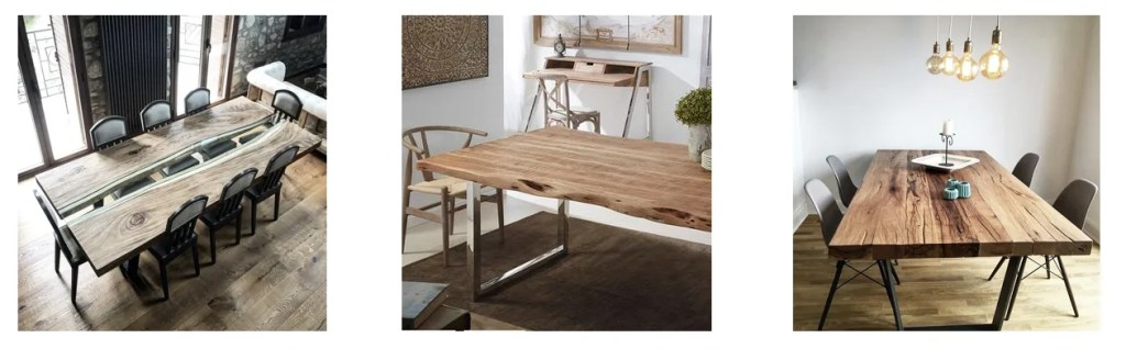 mesa de comedor con madera diy