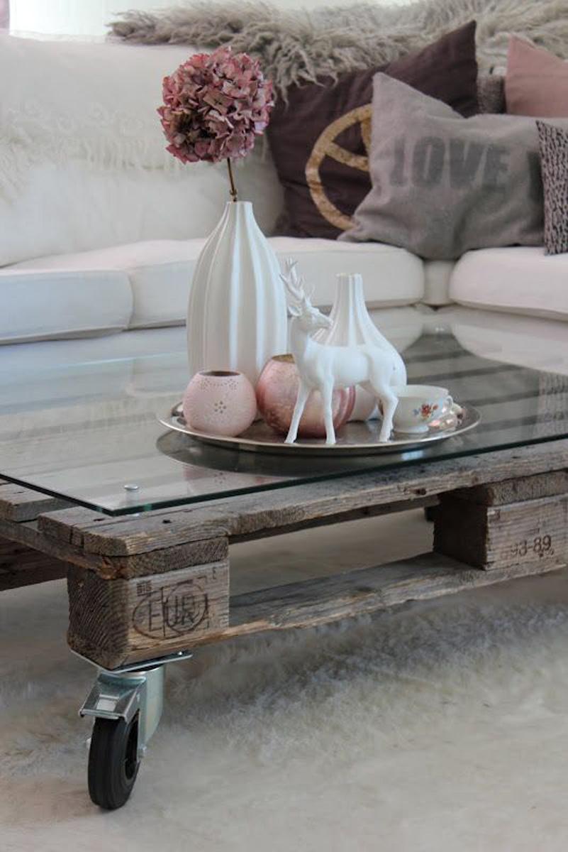 mesa de café con palet