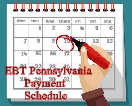 Pennsylvania Food Stamp Payment Dates Ebt Pennsylvania Payment