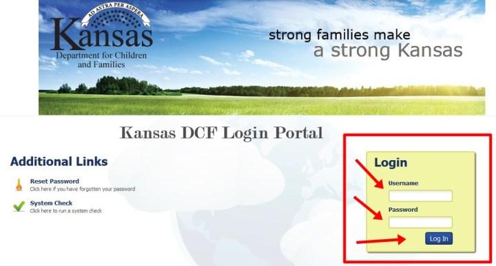 Kansas DCF Login